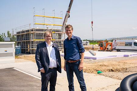 BDF-Geschäftsführer Achim Hannott und Kappel-Grafenhausens Bürgermeister Jochen Paleit