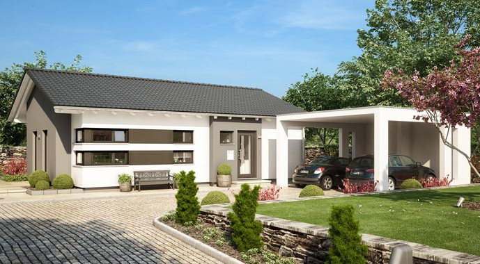 Living Haus Bungalow Solution 87 V3 Außenansicht