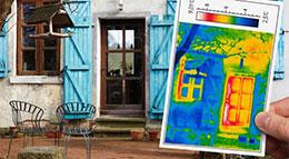 Thermografie-Aufnahmen eines Altbaus