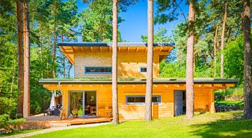 Außenansicht Blockhaus Kalevala von LéonWood