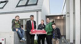 Wohnexperiment Model Home 2020 Velux LichtAktiv Haus Schlüsselübergabe