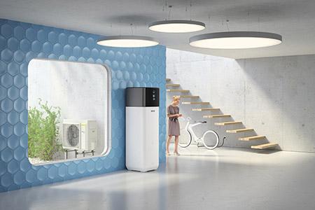 Luft-Wasser-Wärmepumpe Rotex HPSU compact Ultra