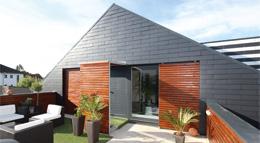 Fassade und Steildach