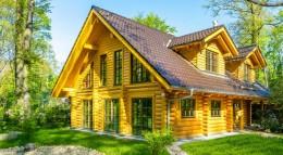 Außenansicht Holzhaus Nordwind von LéonWood