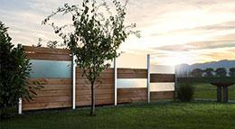 Design-Sichtschutz aus Lärchenholz von Zaunteam
