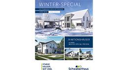 Flyer: Winter-Aktionshäuser von Schwabenhaus