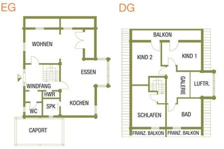 Grundriss Haus Heuberg von Fullwood