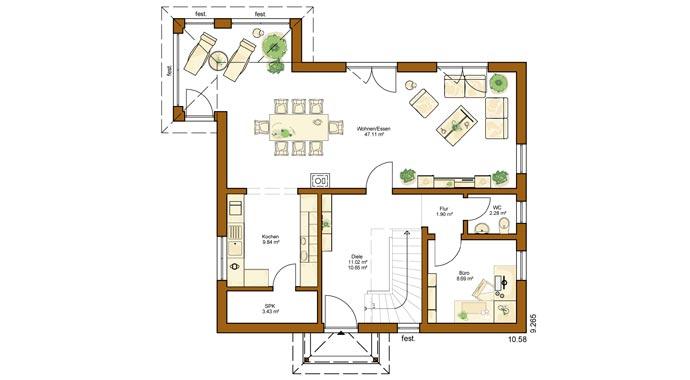 Rensch-Haus: Clou 157 mit Walmdach
