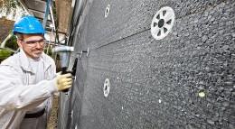 Fassadendämmung mit Polystyrol-Dämmplatten