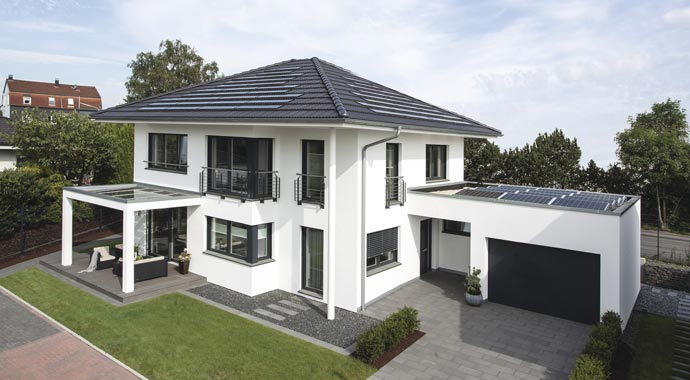 Stadtvilla mit carport und garage  WeberHaus: generation 5.0 Musterhaus Wuppertal
