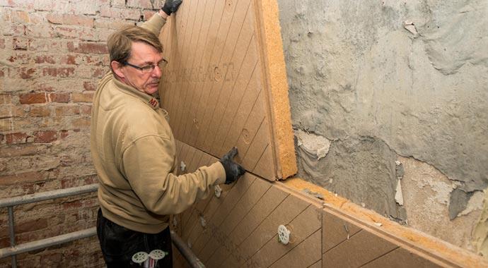 Innendämmung mit Holzfaserinnendämmung von Unger-Diffutherm