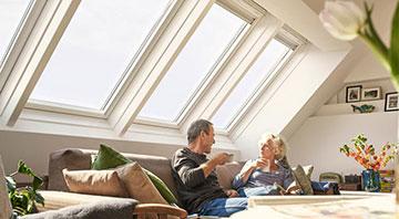 Lichtlösung mit Dachfenstern von Velux