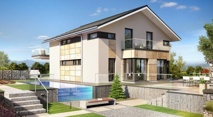 Bien-Zenker: Architektenhaus Concept-M München Modern-Classic V1