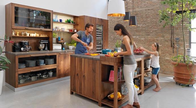 zeitgem e naturholzk chen von team 7. Black Bedroom Furniture Sets. Home Design Ideas