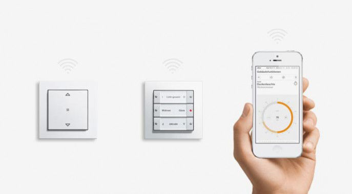 GIRA eNet Funk-System für die Vernetzung und Steuerung der Elektroinstallation.