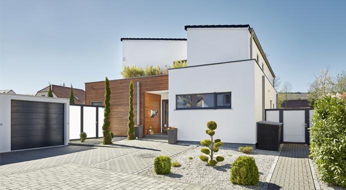 pultdach klassik 197 von luxhaus hurra wir bauen. Black Bedroom Furniture Sets. Home Design Ideas