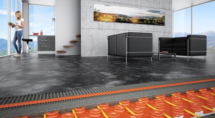 Keramik-Klimaboden Bekotec-Therm von Schlüter-Systems