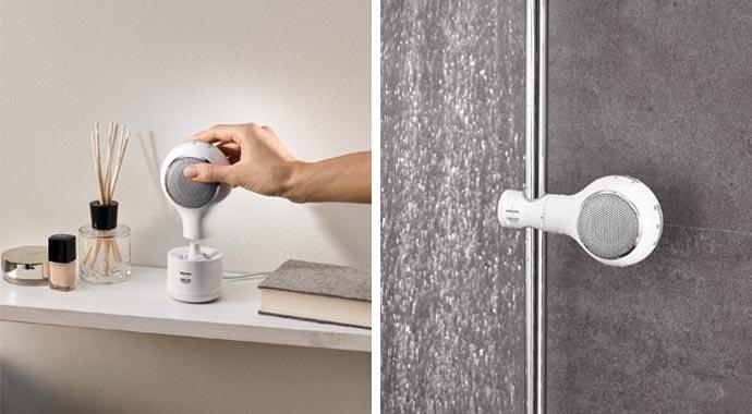 der neue aquatunes bluetooth lautsprecher f r das bad. Black Bedroom Furniture Sets. Home Design Ideas