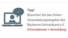 Tipp: Bauherren-Schutzbund e.V. Webinare