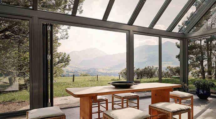 Wohnwintergarten - Wintergartensystem SDL Akzent plus von Solarlux in Pultdachform und als Aluminiumkonstruktion
