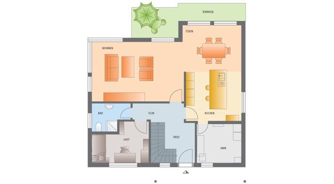 Fingerhaus vio grundriss  FingerHaus: Vio 400 Musterhaus Köln