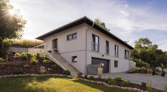 FingerHaus Kundenhaus Steinbauer Außenansicht