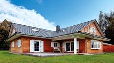 LéonWood Blockhaus Canada Außenansicht