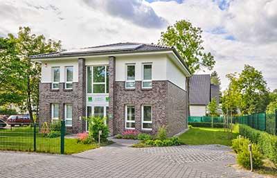 Helma Musterhaus in Teltow Außenansicht