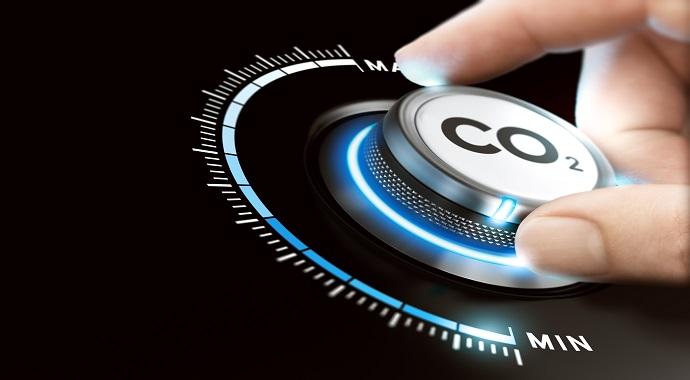 Symbolbild CO2-Fußabdruck