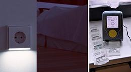 Beleuchtete Steckdose von Jung und Teblettenspender von Vitaphone