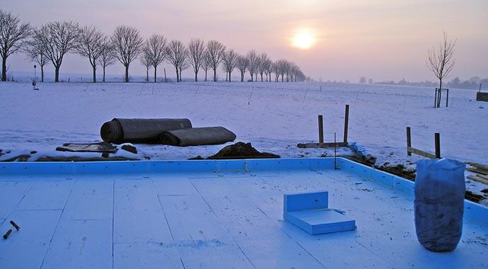 Fertigkeller lassen sich auch im Winter errichten