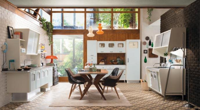 """Die Küche """"Luis"""" greift die typischen Formen der 1950er Jahre auf."""