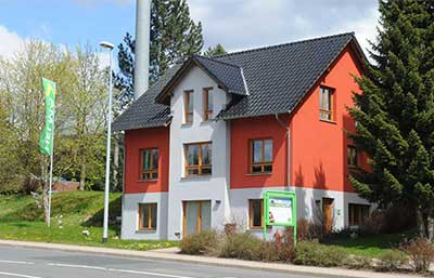 Helma Musterhaus in Zella-Mehlis Außenansicht