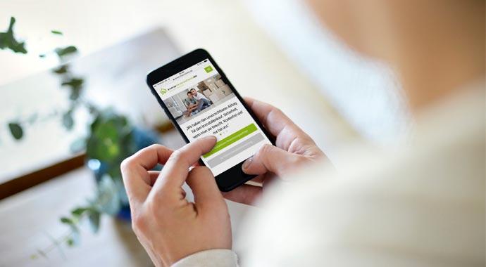 Baufinanzierung mit dem Smart-Phone