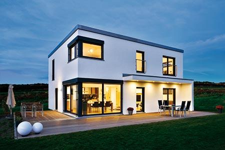 Außenansicht Haus Ulm von Regnauer Hausbau