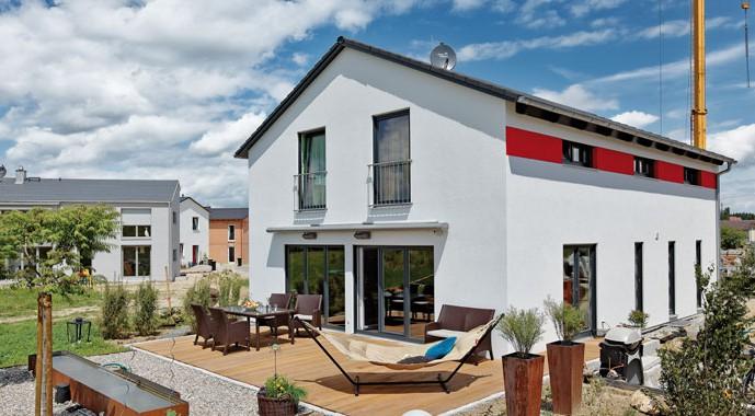 luxhaus satteldach landhaus 159. Black Bedroom Furniture Sets. Home Design Ideas