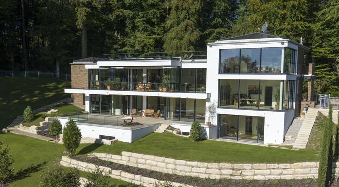 Holz-Aluminium-Fassadensystem FineLine von Unilux