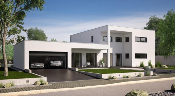 Plusenergiehaus Kern-Haus Ixeo Außenansicht