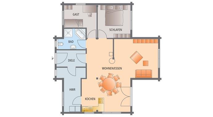 holzhaus bungalow grundriss. Black Bedroom Furniture Sets. Home Design Ideas