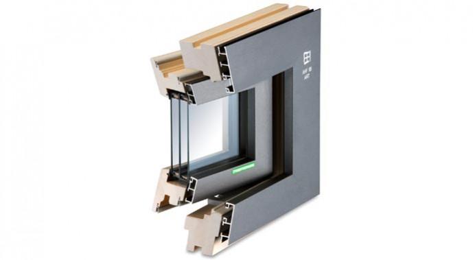 Holz-Alu-Fenster AHF 95 Art-Design von Kneer