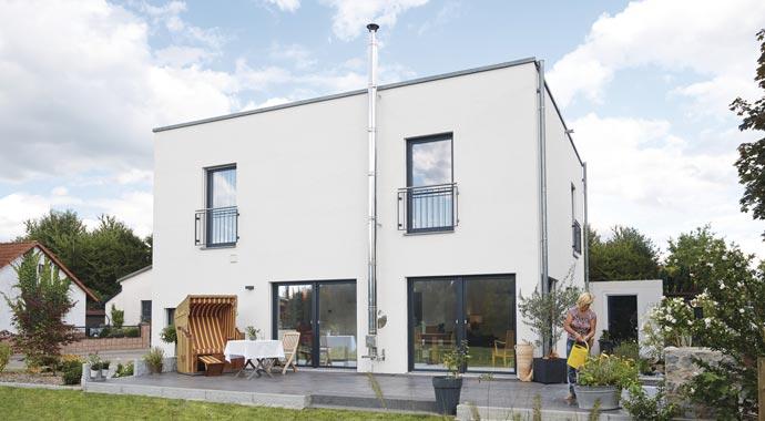 Outdoorküche Weber Haus : ▷ bauherrengeschichte barrierefreies traumhaus im bauhausstil