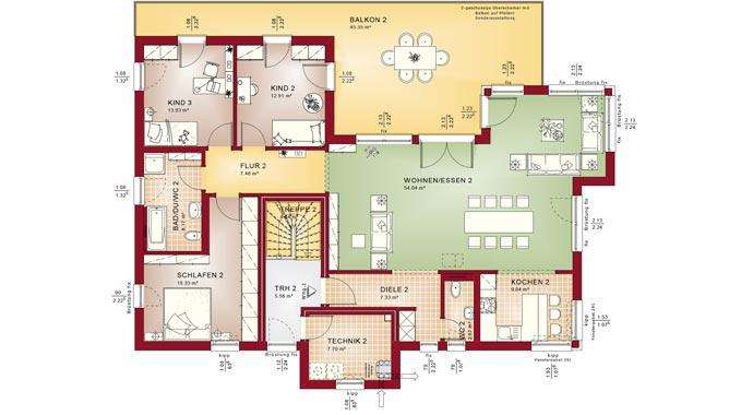Bien zenker zweifamilienhaus celebration 282 v7 for Zweifamilienhaus modern grundriss