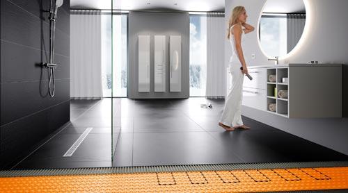Die elektrische Fußbodentemperierung Schlüter-DITRA-HEAT-E