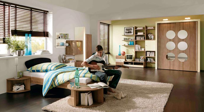 """Das Apartmentprogramm """"Orlando"""" von Musterring bietet eine Vielzahl an variablen Möbeln, die sich kreativ zusammenstellen lassen."""
