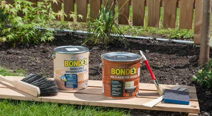 Holzlasur und Imprägnierung von Bondex