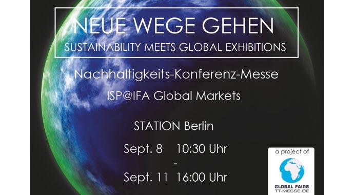 Ankündigung Nachhaltigkeits-Konferenz-Messe