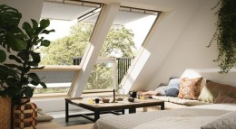 Dachfenster von Velux, Marktführer in Deutschland.