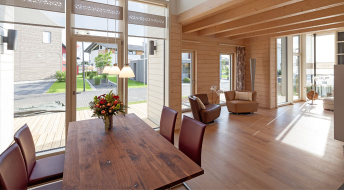 stommel haus musterhaus traubeneiche. Black Bedroom Furniture Sets. Home Design Ideas