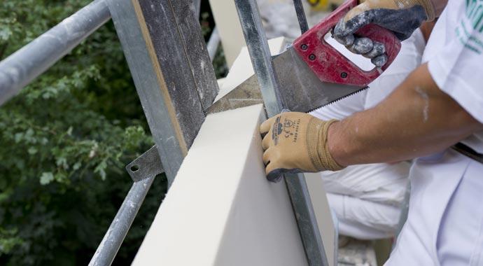 Fassadendämmung mit Polyurethan-Hartschaum-Dämmplatten
