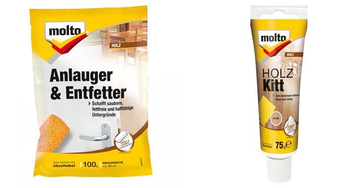 Anlauger & Entfetter und Holzkitt von Molto